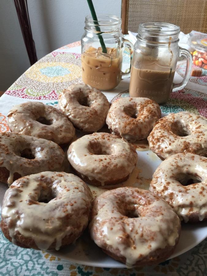 20 minute Pumpkin Spice Donuts